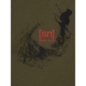 super.natural Graphic Tee Men, olive night/jet black freestyle